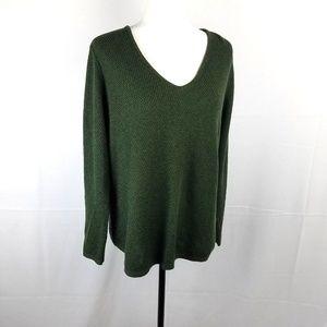 J. Jill Green Knit Pullover Sweater Size MP